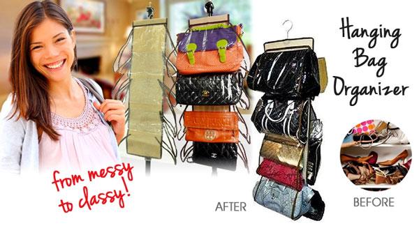 آويز و نگهدارنده کيف hanging handbag organizer
